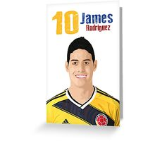 James Rodriguez Greeting Card