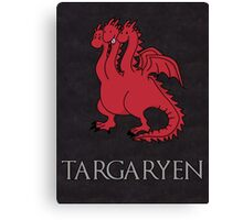 Game of Thrones - House Targaryen Sigil Canvas Print