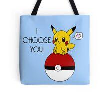 Pokemon Pikachu Valentine's Day Design! (Blue) Tote Bag