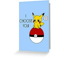 Pokemon Pikachu Valentine's Day Design! (Blue) Greeting Card