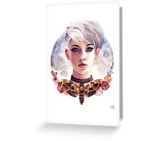 Moon Girl Greeting Card