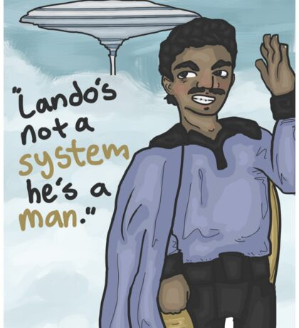 Lando in the Clouds (with quote) Sticker