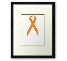 Kidney Cancer Awareness ribbon Framed Print