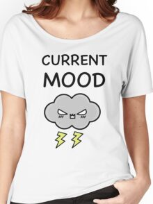 Current Mood Angry Cloud  Women's Relaxed Fit T-Shirt