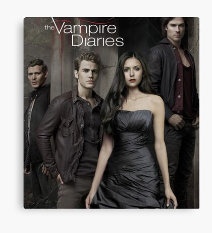 The Vampire Diaries Cast Canvas Print