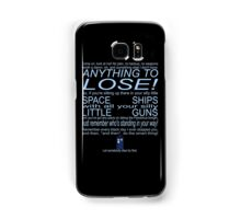 The Doctor's Speech at the Pandorica Samsung Galaxy Case/Skin