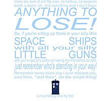 The Doctor's Speech at the Pandorica Photographic Print