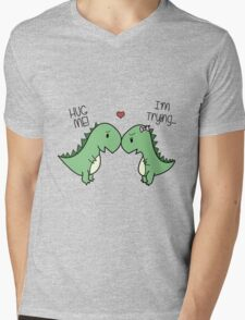 Dino Love! (Hug Me!) Mens V-Neck T-Shirt