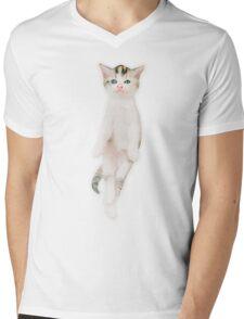 Cat in Air Mens V-Neck T-Shirt