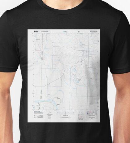 USGS TOPO Map Arkansas AR Foreman 20110711 TM Unisex T-Shirt