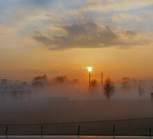 Evening Fog Bank  by Keala