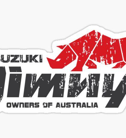 Suzuki Jimny Owners of Australia - Grunge Rhino Red Sticker