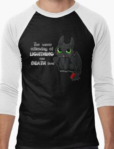 Toothless - Night fury quote Men's Baseball ¾ T-Shirt