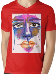 Dilated Watercolour Mens V-Neck T-Shirt