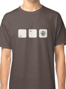 Ctrl Alt Del Cyberman Parody Doctor Who Classic T-Shirt