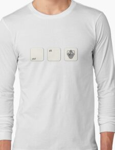Ctrl Alt Del Cyberman Parody Doctor Who Long Sleeve T-Shirt