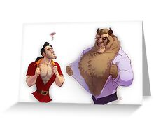 Gaston vs. Beast Greeting Card