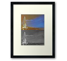 View from Brighton Pier at Night Framed Print