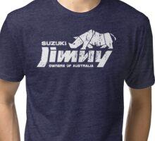 Suzuki Jimny Owners of Australia - Grunge Rhino Mono Reversed Tri-blend T-Shirt