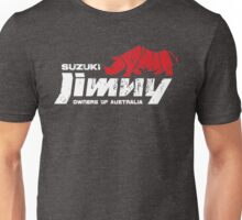 Suzuki Jimny Owners of Australia - Grunge Rhino Red Reversed Unisex T-Shirt