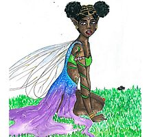 gold faerie Photographic Print