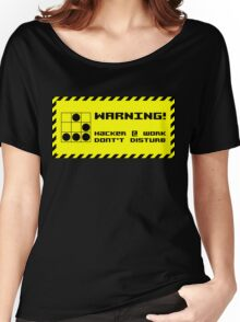 Hacker at work Women's Relaxed Fit T-Shirt