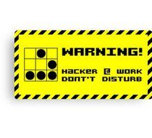 Hacker at work Canvas Print
