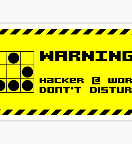 Hacker at work Sticker
