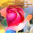 One Rose (Art & Haiku) by Charldia