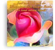 One Rose (Art & Haiku) Canvas Print