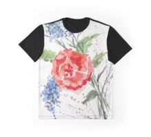 Royal-hearted Rose Graphic T-Shirt