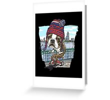 Boston Terrier Wicked Pissah Tricycle Adventure Greeting Card
