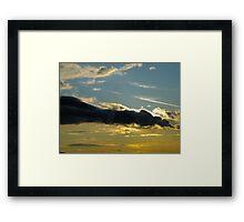 Evening Contrail Framed Print