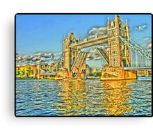 Tower Bridge In Yellow Canvas Print
