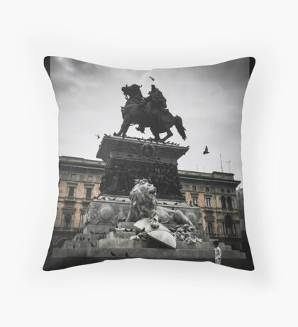The Lion, the Knight, and the Boy Throw Pillow