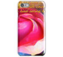 One Rose (Art & Haiku) iPhone Case/Skin