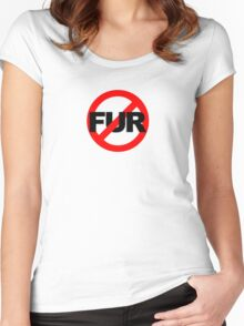 No Fur Women's Fitted Scoop T-Shirt