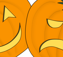 Trick or Treat (Theatrical Jack O' Lanterns) Sticker
