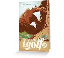 Galactic Golf Greeting Card