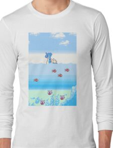 Pokemon Gold And Silver Scenic Ocean Long Sleeve T-Shirt
