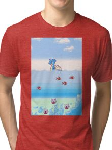 Pokemon Gold And Silver Scenic Ocean Tri-blend T-Shirt