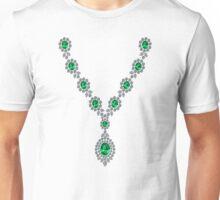 Long Emerald Necklace with Pendant Unisex T-Shirt