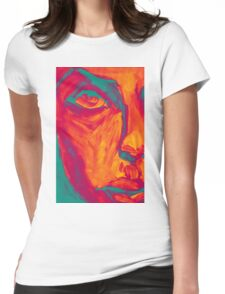 Explosive Colorful Portrait Painting Womens Fitted T-Shirt