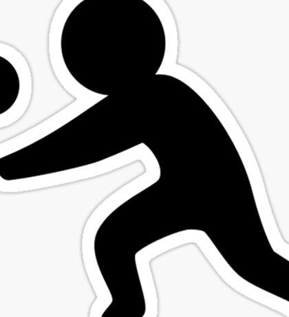 Volleyball Stickfigure Sticker