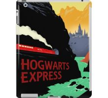 Hogwarts Express Retro Travel Poster iPad Case/Skin