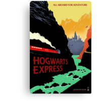 Hogwarts Express Retro Travel Poster Canvas Print