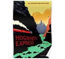 Hogwarts Express Retro Travel Poster Poster
