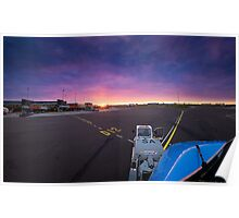Crazy sunrise at Schiphol airport Poster