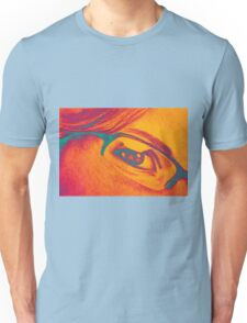 Drawing of girl with glasses, detail. Unisex T-Shirt