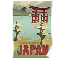 Japan - Kaiju Travel Poster Poster